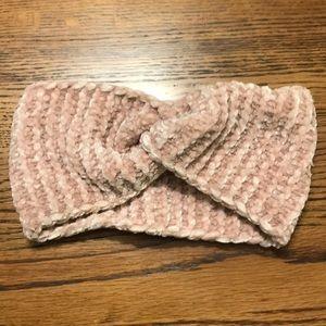 Blush rose ear warmer headband